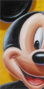 """Bret Iwan Signed and Numbered Hand-Textured Giclée on Canvas : """"Facking Mickey"""""""