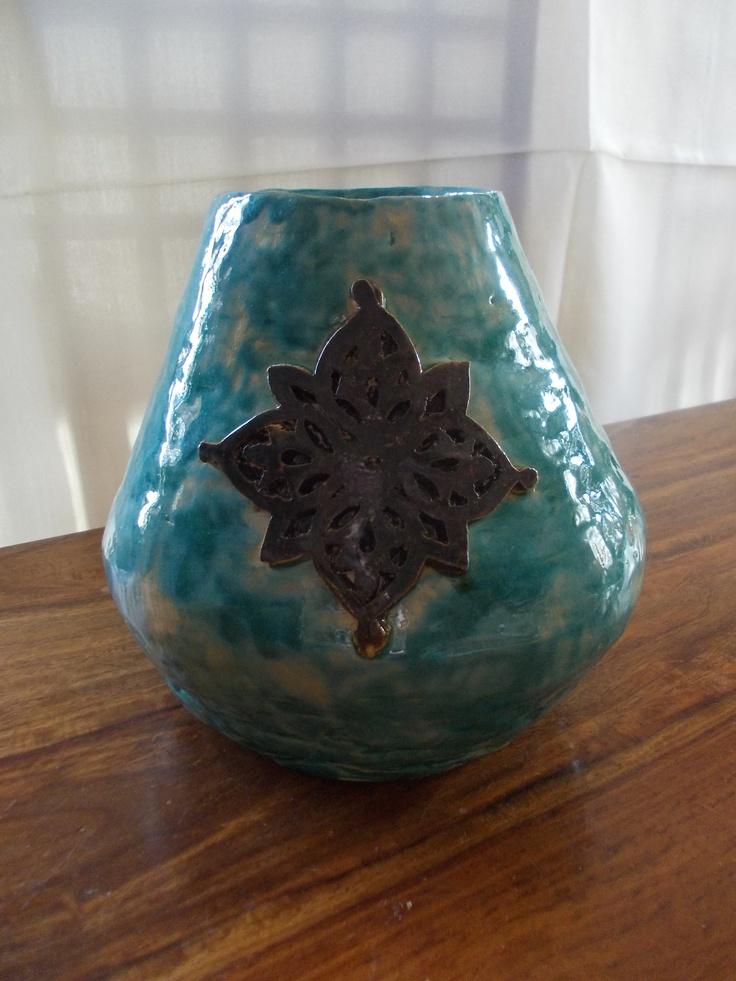 wazon turkusowy