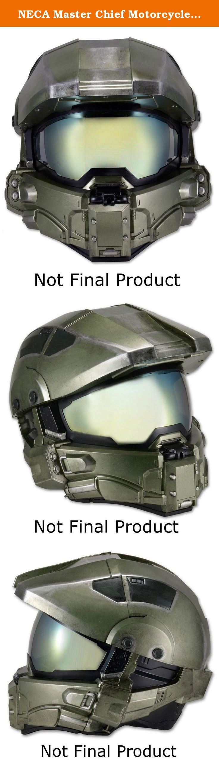 NECA Master Chief Motorcycle Helmet - X-Large. From the award-winning Halo video games, this detailed replica of Master Chief's headgear is also a DOT-approved modular motorcycle helmet! Master Chief Petty Officer John-117 is a central figure at the forefront of the war against the Covenant and rumored to be the lone survivor of the declassified SPARTAN-II project. This limited edition helmet has a convenient modular design with glove-friendly opening mechanism and full list of features....