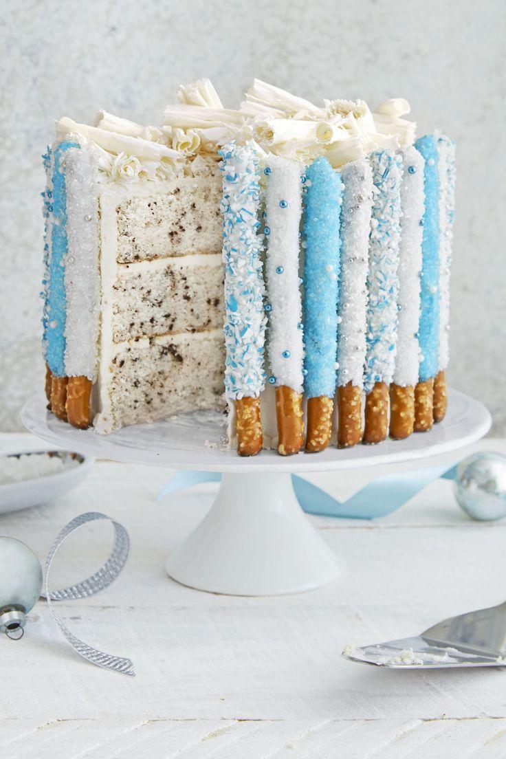 Candied Pretzel Cake  - CountryLiving.com