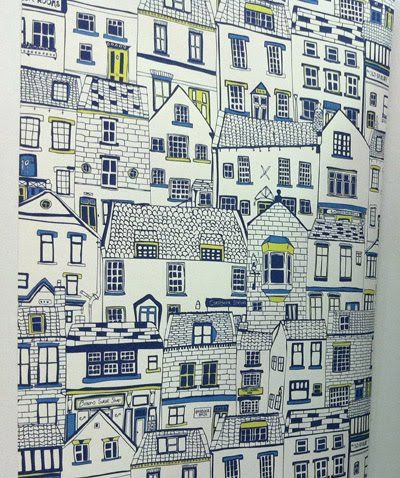 Jessica Hogarth illustration http://www.jessicahogarth.com/ http://www.yourindies.com/indieshop.asp?IndieID=155 #houses #art