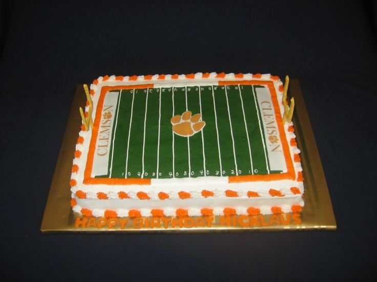 Clemson Paw Print Cake Ideas And Designs