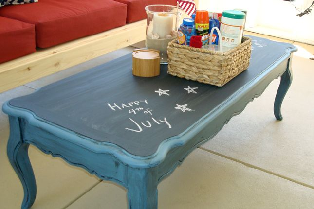 Chalkboard Paint Coffee Table 40 Quirky Coffee Tables | Brit + Co.