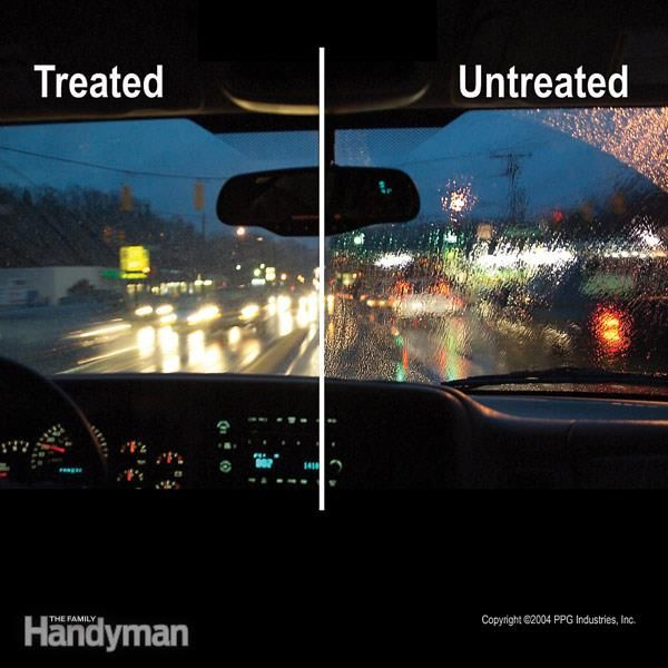 Glass treatments coat your windshield with water repellant, making it easier to wipe away water, ice and bugs and giving you a clearer view out your wind