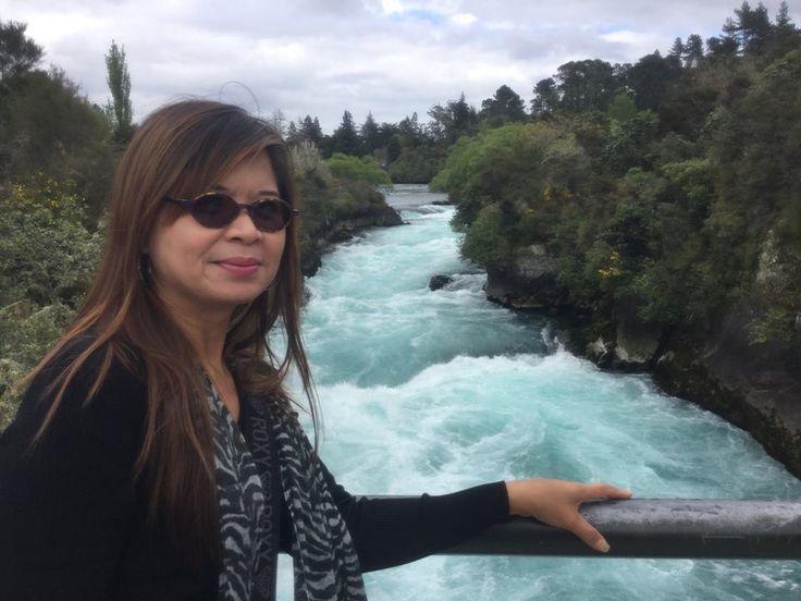 Huka Falls, Taupo Town District, New Zealand
