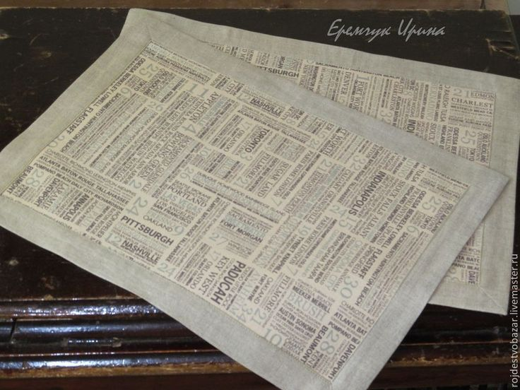 """Купить Ланчматы """"Подстели газетку!"""" - коричневый, газета, старая газета, состаренный стиль, состаренный блокнот"""