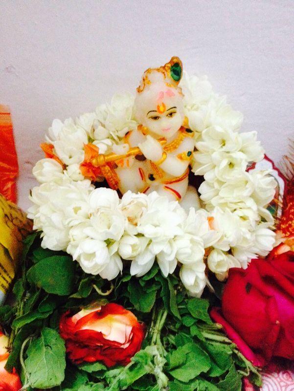 All ready and fresh!  Baby Krishna!