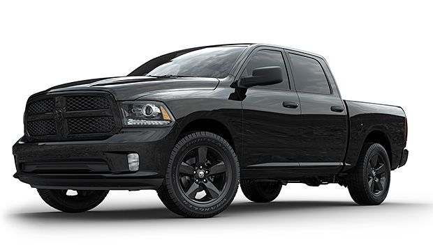 2013 Dodge RAM 1500 Black Empress With its 5.7-liter Hemi V8, the 2013 Dodge Ram 1500 is one big, bad truck. And in this new Black Empress Edition you can get that murdered-out, triple-black stealth look right off the dealer lot. It's de-badged, sitting on 20-inch rims, and boasts a towing capacity of nearly 10,000 lbs.