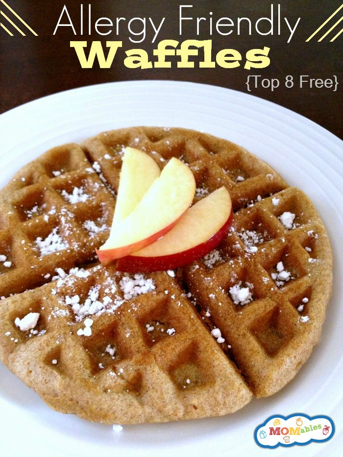 Allergy friendly waffles egg nut gluten free so good. used bob red mill g free flour and hemp milk in place of water.  sticks though...add coconut oil?