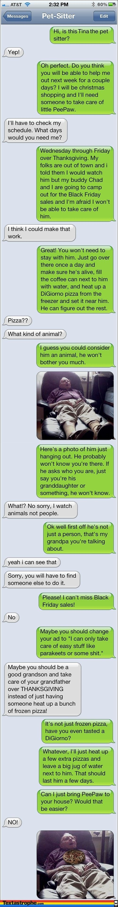 Text pranks