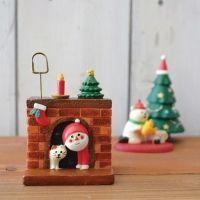 데꼴 크리스마스 인사 메모꽂이 - 벽난로 ※ DECOLE 카드스탠드,홀더,장식소품,피규어미니어쳐,마스코트