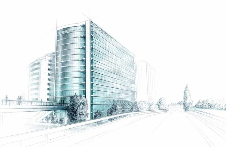 illustration Architecture immeuble CREDIT AGRICOLE Florence Gendre