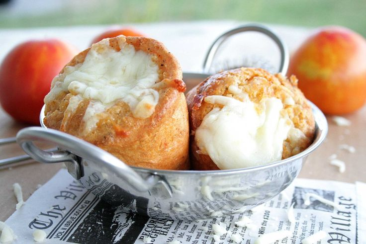 Pizza Popovers - perfect side for Pasta! (quick and easy, too!)