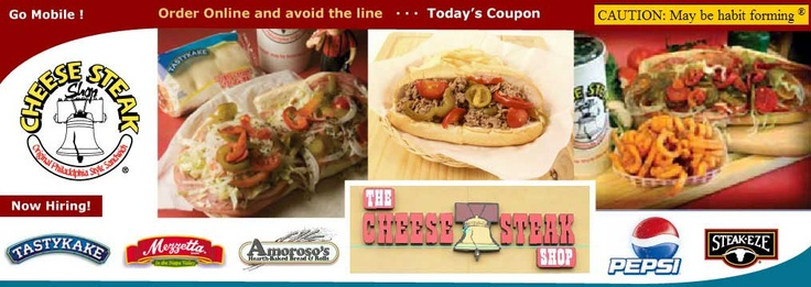 The Cheesesteak Shop: Careful, it's habit forming (and fattening). They use amoroso rolls, hot/sweet peppers and provolone cheese (no cheez-whiz). Good hoagies too!