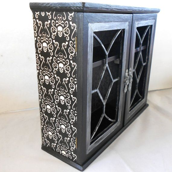 Gothic Home Decor Gothic Cabinet Skull And Crossbones