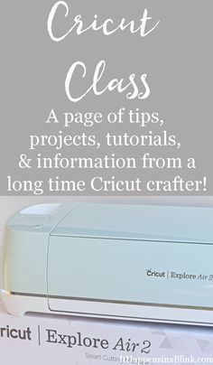 A page of tips, projects, tutorials and information from a Cricut Crafter. This page is updated frequently!
