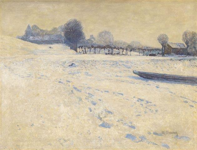 Max Clarenbach, Winter landscape near Wittlaer.