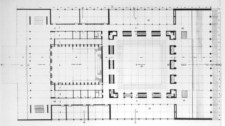 Palazzo dei Congresi E'42 Roma    -ADALBERTO LIBERA -