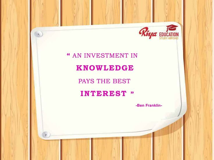 "#Quote for the Day !!! #mondaymotivation - ""An investment in knowledge pays the best interest ""."