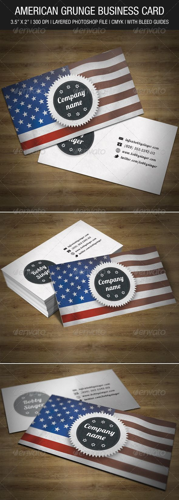 101 best print templates images on pinterest print templates font american grunge business card graphicriver this business card is print ready cmyk 300dpi reheart Gallery
