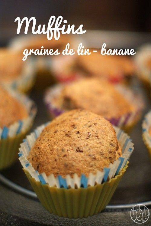 Muffins banane - graines de lin