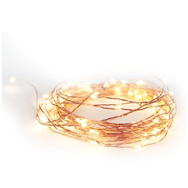 Copper String Lights Portable 5m from Corner Store via The Third Row
