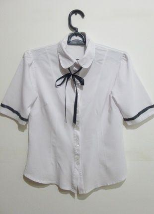 Kup mój przedmiot na #vintedpl http://www.vinted.pl/damska-odziez/koszule/12771258-biala-koszula-seifuku-cosplay-m-krotki-rekaw