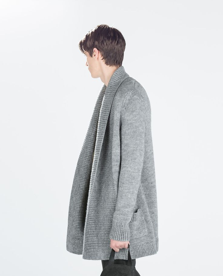 Image 2 of CHUNKY KNIT OPEN CARDIGAN from Zara