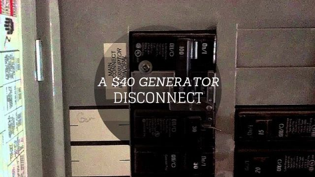 One of our forum members had asked about a cheap generator transfer switch for their home. An external disconnect can run about 500-1000 dollars based off local electrician rates but an inexpensive option is a $40 dollar interlock kit.