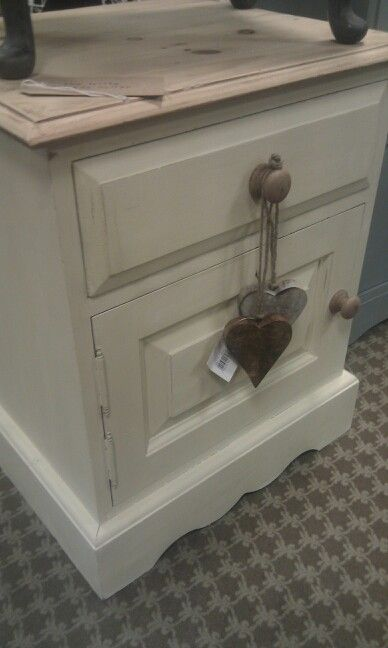 Pine bedside cabinet painted in Annie Sloan cream. the little vintage cellar on Facebook. :-)