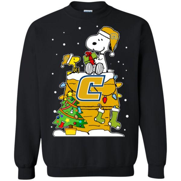 Chattanooga Mocs Ugly Christmas Sweaters Snoopy Hoodies Sweatshirts