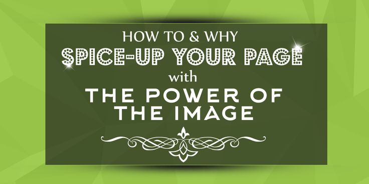Power-up your page with astonishing images