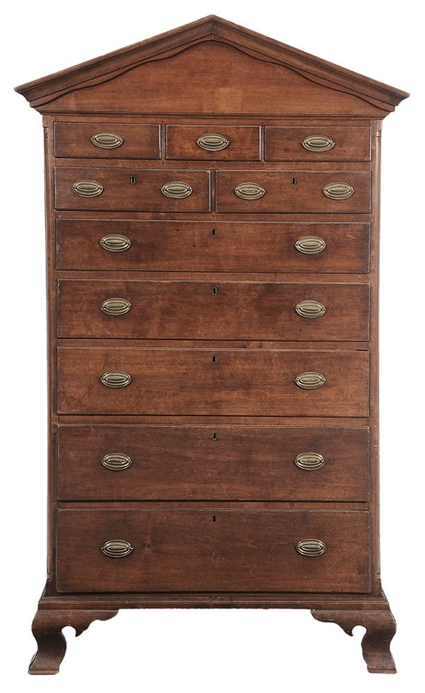Important North Carolina Federal Tall Chest of Drawers attributed to  Guilford or Randolph County, 1800 - 14 Best Antique--Federal Period, Massachusetts Images On Pinterest