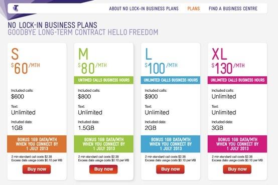 telstra's pricing plan is so sleek! :D