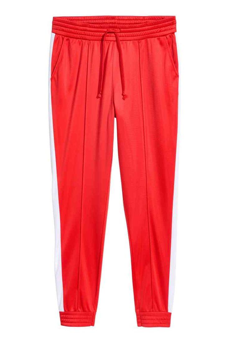 Športové nohavice - červená - ŽENY   H&M SK