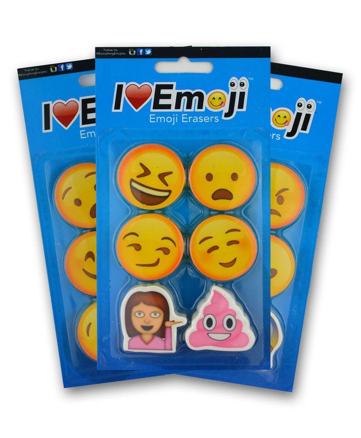 Emoji Eraser 3 Pack (Set 2)
