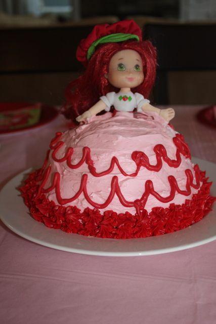 Strawberry Shortcake Party Cake #strawberryshortcake #partycake