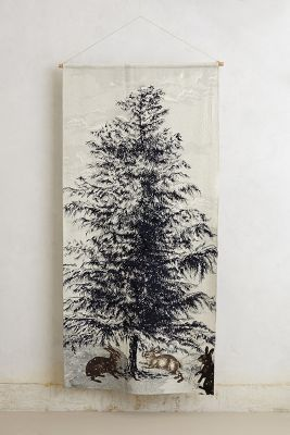 northerine pine wall tapestry / anthropologie: Breakfast Rooms, Trees Tapestries, Xmas Trees, Northern Pine, Wall Tapestries, Pine Trees, Pine Needle, Christmas Trees, Pine Wall