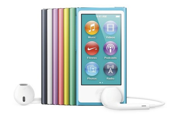 Unveiled by Apple today alongside the highly-anticipated iPhone 5 and the fifth-generation iPod Touch is the seventh-generation of the popular iPod Nano. Completely redesigned and 38% thinner than its predecessor at just 5.4mm-thick, the new Nano features a 2.5″ multitouch display with 240×432-pixel resolution alongside 16GB of storage, an FM tuner, slimmed-down Lightning connectivity, Bluetooth capabilities and built-in Nike+ support.