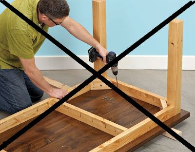 Warning About Attaching Table Tops With Pocket Hole Screws, And Using  Construction Grade Lumber For Furniture Projects.