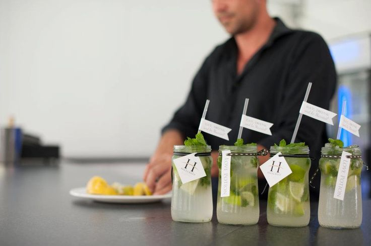 Mojito in a jar! Pre-dinner drinks idea - http://www.hillcrestfarm.co.za/venues/weddings