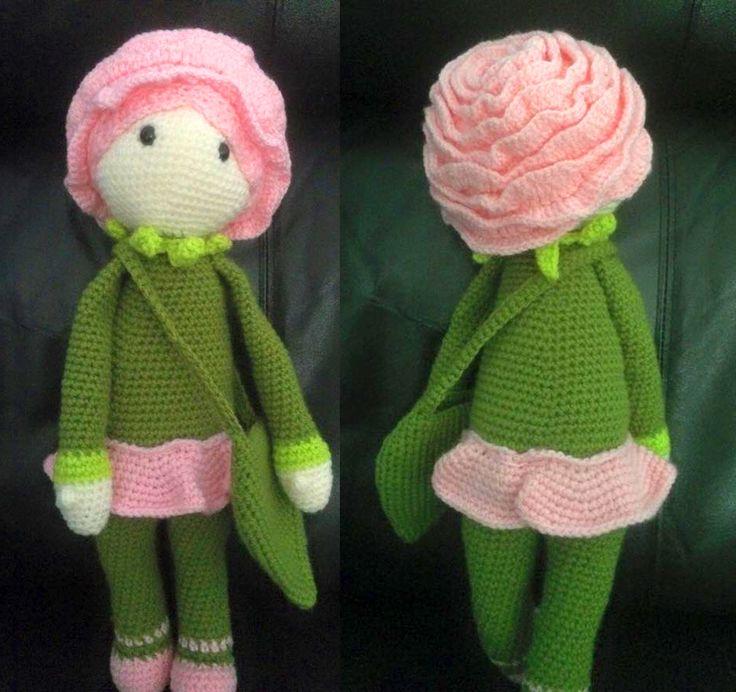 Rose Roxy doll modification made by Pamela B - crochet pattern by Zabbez