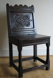 Late 17th Century Oak Closed Back Chair