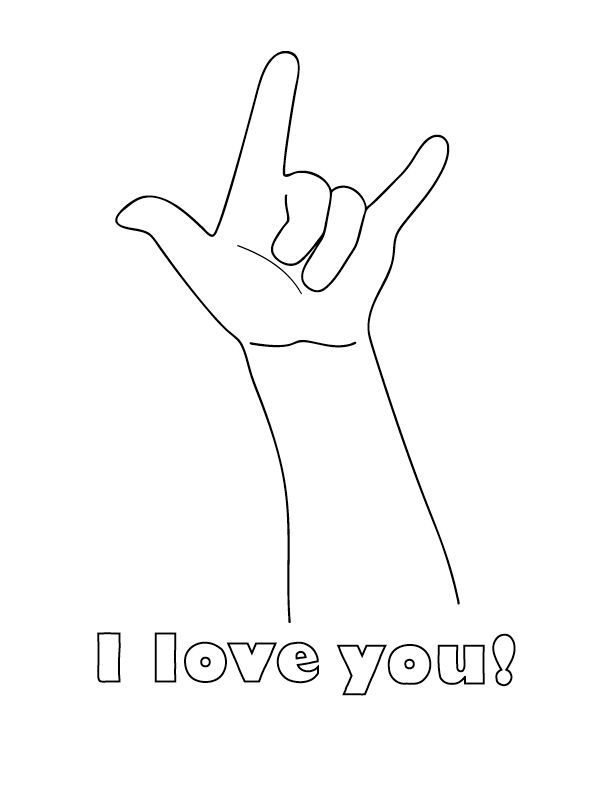 matthew mark like jesus healed a mans hand i love you sign language coloring page sign the i love you banner below the hand jesus