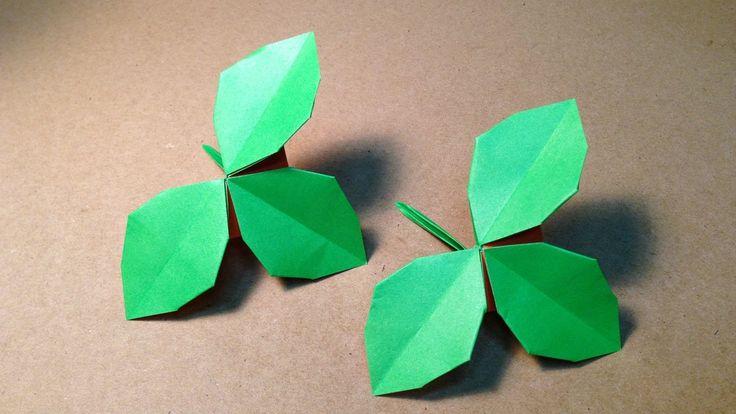 【折り紙(おりがみ)】 バラの葉の折り方 作り方