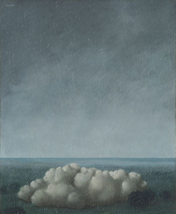 """moschops911: """" Song of the Storm, Rene Magritte, 1937 """""""
