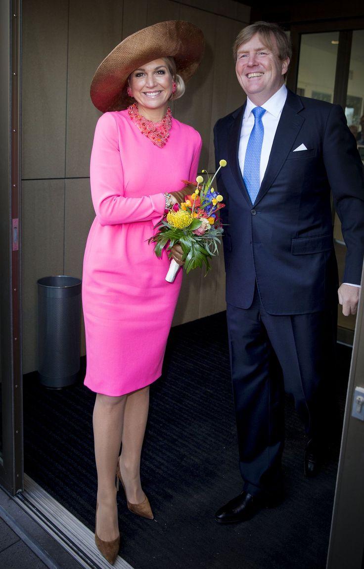 King Willem-Alexander and Queen Maxima visited the Krimpen aan den IJssel town in western NL l February 21, 2017.