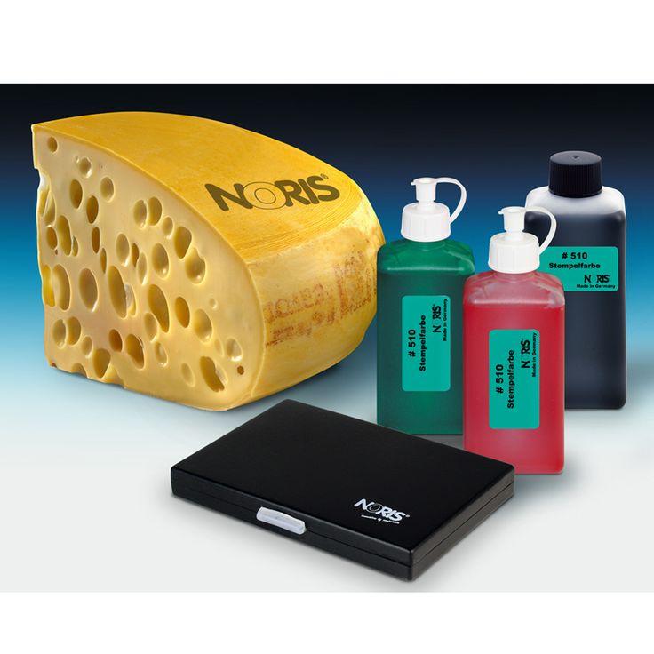 Noris 510. Inkt speciaal voor op kaas. Te gebruiken in combinatie met een handstempel (rubber)