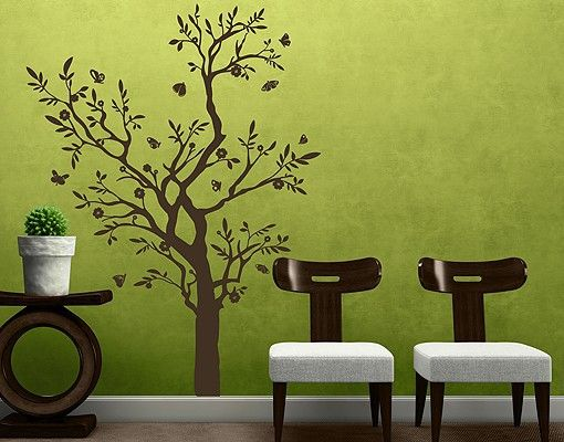 Wandtattoo Wald - Baum No.RS75 Ast mit Schmetterlingen II #Wantattoo #Wantatoo #Wandsticker #Wandaufkleber #selbstklebendes #Wandbild #Wandgestaltung #Baum