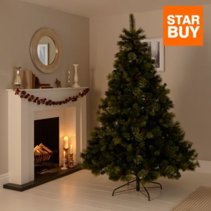 7ft Pre-Decorated Andorra Christmas Tree